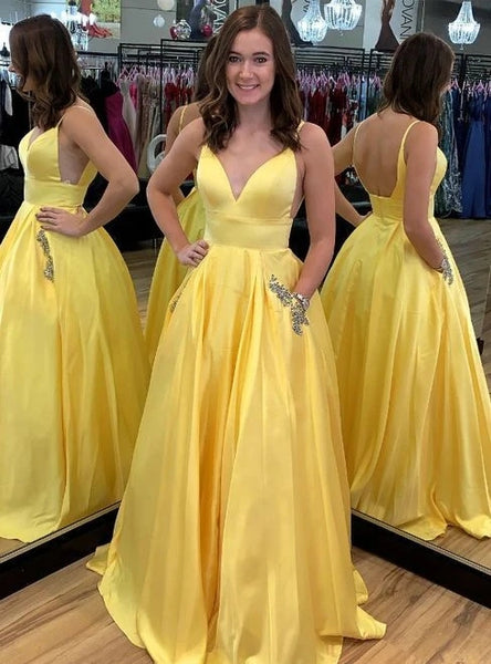 Prom Dresses Banquet Gowns Evening Gowns Open Back Spaghetti Straps MPD308