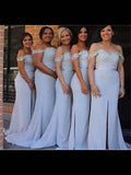 Off the Shoulder Floor Length Bridesmaid Dresses MBP038