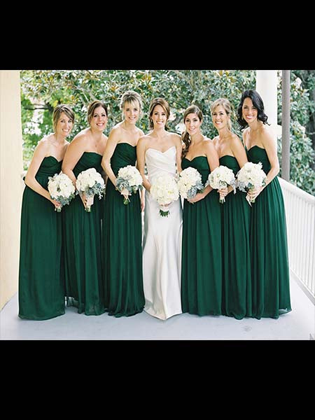 Chiffon Floor Length Bridesmaid Dresses MBP042
