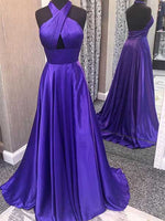A Line Halter Prom Dresses Banquet Gowns Evening Gowns MPD471