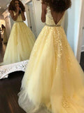 A Line Lace Formal Dresses Prom Dresses Wedding Party Dresses MPD489