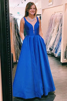 Satin Banquet Gowns Evening Gowns Prom Dresses MPD505