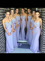 Mermaid Floor Length Bridesmaid Dresses MBP050