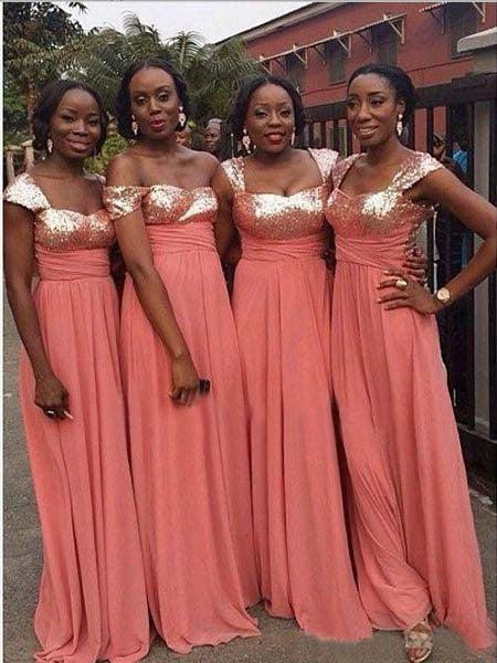 Shiny Chiffon Bridesmaid Dresses MBP051