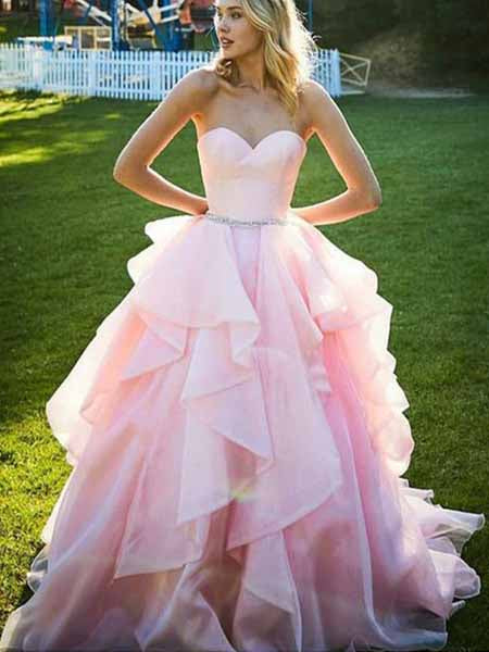 Pink Prom Dresses Banquet Gowns Evening Gowns MPD527