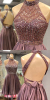 Beaded Halter Homecoming Dresses Sweet 16 Dresses Wedding Party Dresses MPD533