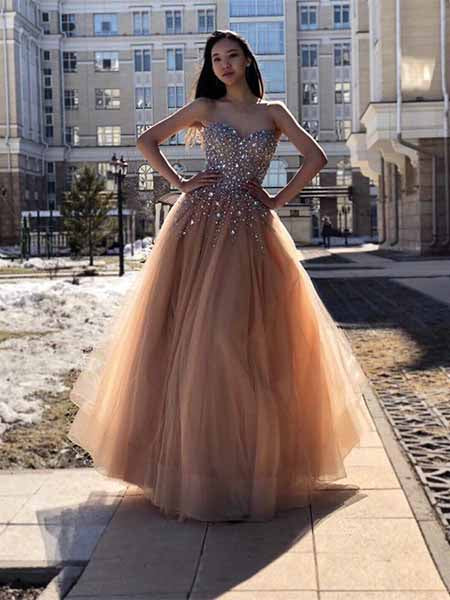 Beaded Prom Dresses Banquet Gowns Evening Gowns MPD536