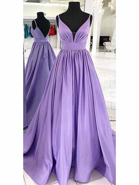 Satin Prom Dresses Banquet Gowns Evening Gowns MPD538