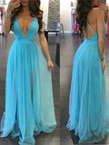 Tulle Prom Dresses Banquet Gowns Evening Gowns MPD543
