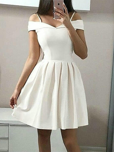 Off the Shoulder Homecoming Dresses Sweet 16 Dresses Wedding Party Dresses MPD556