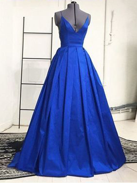 A Line Royal Blue Prom Dresses Banquet Gowns Evening Gowns MPD582