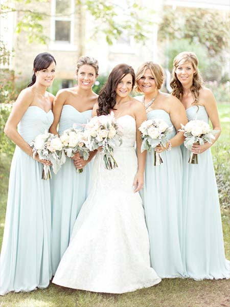 Chiffon Floor Length Bridesmaid Dresses MBP058