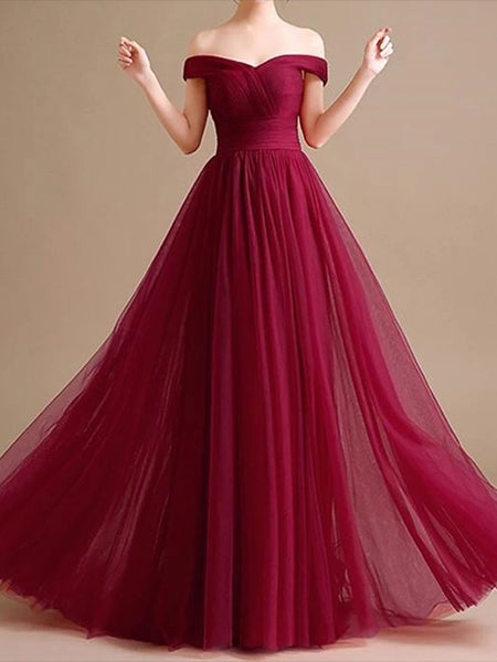 Tulle Prom Dresses Banquet Gowns Evening Gowns MPD593