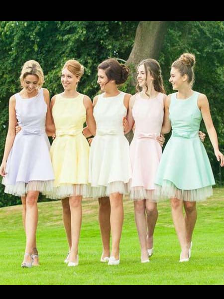 Short Bridesmaid Dresses MBP059