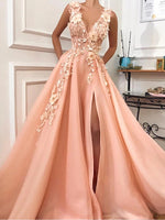 Tulle and Appliques Prom Dresses Banquet Gowns Evening Gowns MPD601