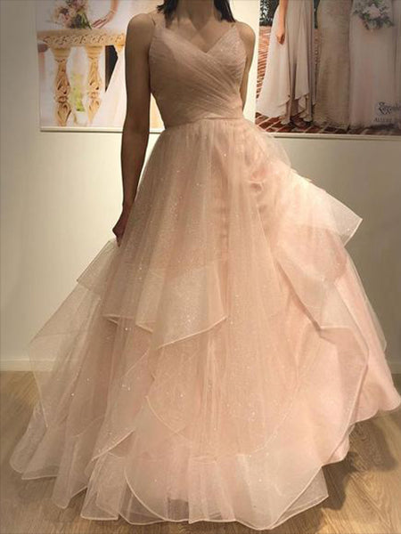 Shiny Tulle Prom Dresses Banquet Gowns Evening Gowns MPD612
