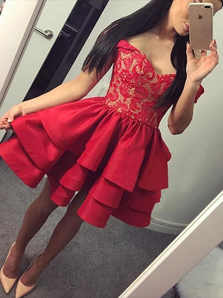 Lace Homecoming Dresses Sweet 16 Dresses MPD616