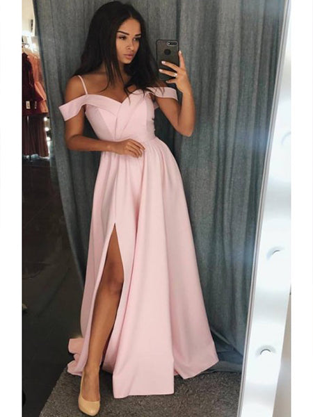 Off the Shoulder Prom Dresses Banquet Gowns Evening Gowns MPD637
