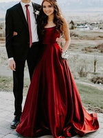 Burgundy Prom Dresses Banquet Gowns Evening Gowns MPD641