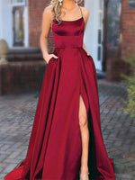 Satin Prom Dresses Banquet Gowns Evening Gowns MPD658