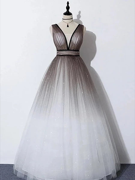 Shiny Tulle Prom Dresses Banquet Gowns Evening Gowns MPD677