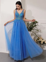 Beaded Tulle Banquet Gowns Evening Gowns Prom Dresses MPD699