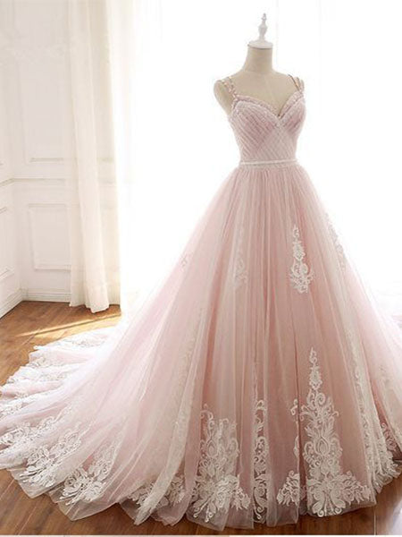 Tulle and Lace Banquet Gowns Evening Gowns Prom Dresses LPD703