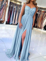 Chiffon and Lace Formal Dresses Prom Dresses Wedding Party Dresses MPD709