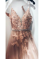 Tulle and Applique Banquet Gowns Evening Gowns Prom Dresses MPD720