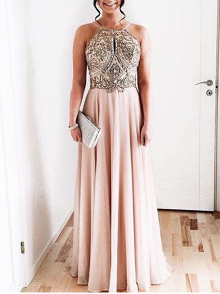 Beaded Chiffon Formal Dresses Prom Dresses Wedding Party Dresses MPD721