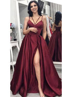 Burgundy Banquet Gowns Evening Gowns Prom Dresses MPD723