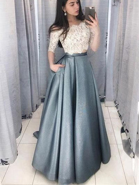 Two Pieces Banquet Gowns Evening Gowns Prom Dresses MPD732