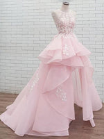 Pink Lace Prom Dresses Banquet Gowns Evening Gowns MPD736
