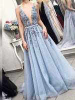 Applique and Tulle Prom Dresses Banquet Gowns Evening Gowns MPD738