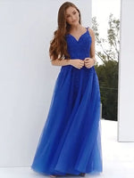 Royal Blue Lace Prom Dresses Banquet Gowns Evening Gowns MPD764
