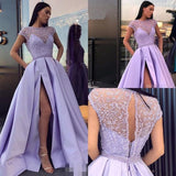 Beaded Satin Prom Dresses Banquet Gowns Evening Gowns MPD787