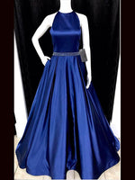 Satin Halter Prom Dresses Banquet Gowns Evening Gowns MPD810