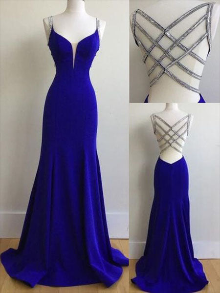 Royal Blue Prom Dresses Banquet Gowns Evening Gowns LPD822