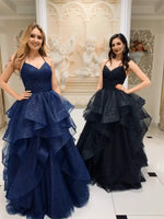 Sparkling Tulle Prom Dresses Banquet Gowns Evening Gowns MPD828