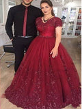Lace and Tulle Prom Dresses Banquet Gowns Evening Gowns MPD876