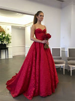 Lace Prom Dresses Banquet Gowns Evening Gowns with Spaghetti Straps MPD877