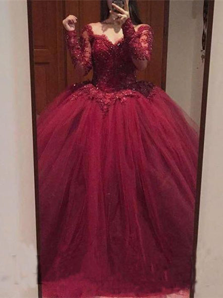 Tulle and Lace Prom Dresses Banquet Gowns Evening Gowns MPD885