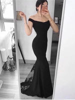 Mermaid Satin and Lace Prom Dresses Wedding Party Dresses MPD624