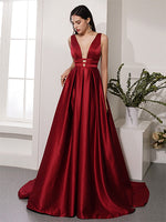 V Neckline Prom Dresses Graduation Party Dresses Evening Dresses MPD006