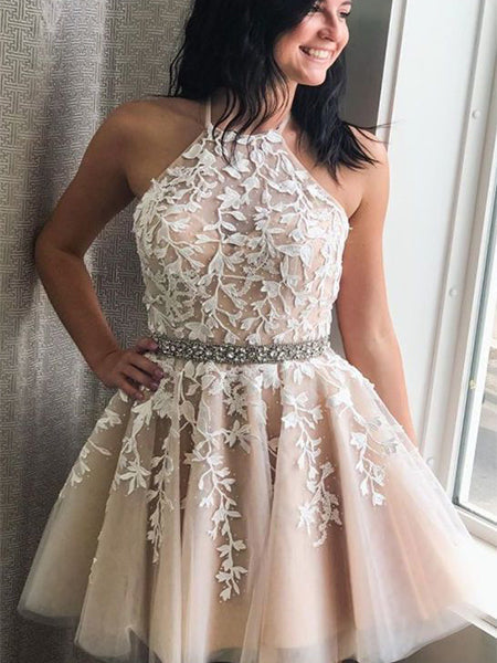 Short Lace Homecoming Dresses Sweet 16 Dresses MPD007