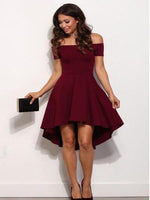 Off the Shoulder Burgundy Homecoming Dresses Sweet 16 Dresses MPD019