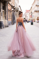 Beaded Tulle Prom Dresses Banquet Dresses Evening Gowns MPD036