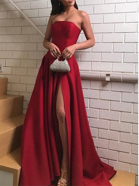 Sexy Prom Dresses Banquet Dresses Evening Gowns with Slit MPD040