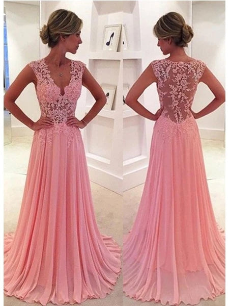 Chiffon and Lace Prom Dresses Banquet Gowns Evening Gowns MPD353
