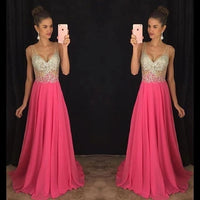 Beads and Chiffon Prom Dresses Banquet Gowns Evening Gowns MPD354